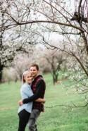 Adelaide Cherry Blossoms Engagement - Polka Dot Bride