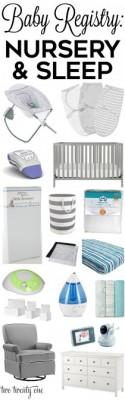 Baby Registry: Nursery And Sleep Products
