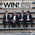 Win Three Suits For The Groom & Groomsmen From Man To Man - Polka Dot Bride