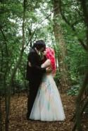 Matt & Hazi's UK rainbow woodland wedding