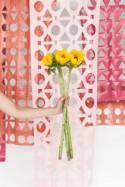 Geometric DIY Papercut Backdrop For A Wedding Or Bridal Shower - Weddingomania