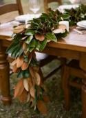 Organic-Inspired DIY Magnolia Leaf Table Runner - Weddingomania