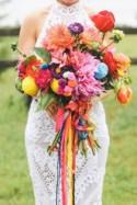 Gorgeous Multi-Coloured Bouquets For Spring And Summer Weddings