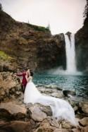 Origami Wedding at a Waterfall