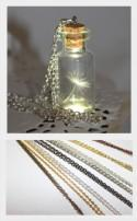 One Special Wish Dandelion Seed In a bottle, Jar Necklace, Vial Terrarium necklace, handmade dandelion jewelry, make a wish pendant