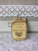 Save the Date magnets - Wooden Save the Date - Manson Jar Save the Date - Rustic Save the Date