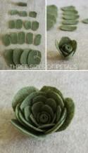 A felt succulents tutorial for all your rustic centerpieces, bouquets, and headpieces