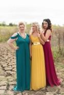 How to Mix + Match Winter or Autumn Bridesmaid Dresses Like a Boss!