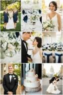 Classic & Elegant Wedding with Fresh Navy & White Hues