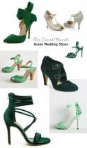 Our Current Favorite Green Wedding Shoes