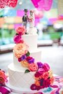 Hyper-Colourful Day of the Dead Wedding
