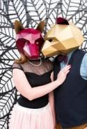 This animal mask engagement shoot in Denver brings out our wild side