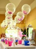 "Match your colors - 12"" Biodegradable Clear Latex Confetti-Filled Balloons"