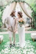 Bohemian Wedding Inspiration with a Touch of Vintage Glam - Belle The Magazine