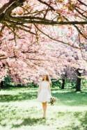 Springtime Cherry Blossom Bridal Shoot In Paris - French Wedding Style