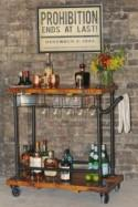 Serve your guests from a traveling bar cart