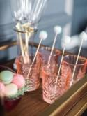 DIY Pom Pom Drink Stirrers from Grit & Grace!