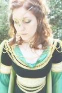 Swords and feathers at a woodland Wiccan Medieval wedding