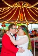 Rainbows and roller coasters abound at this Knoebel's wedding in Pennsylvania