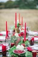 Red and Greenery Holiday Wedding Ideas - Belle The Magazine