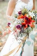 Rustic Modern Fall Wedding Shoot Outdoors - Weddingomania