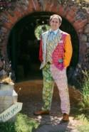 Bohemian Festival Wedding with the Groom in a Patchwork Suit!