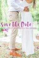 Wedding Dates to Avoid in 2017 and 2018