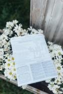 Very : Read all about these custom newspaper wedding programs