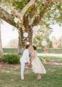 A classy and colorful picnic wedding with lawn games and cheeseburgers