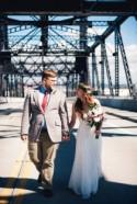 A ceremony right where they got engaged: on the Murray Morgan Bridge!