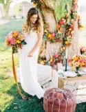Vibrant + Colorful Fall Wedding Inspiration