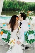 Modern Luxury Poolside Wedding Inspiration with Tropical Flair - Belle The Magazine