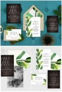 22 Amazing Greenery Botanical Wedding Invitations!