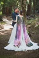 A Whidbey Island cosmos wedding in their own backyard