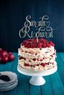 Wedding Cake Topper Names  Rustic Cake Topper  Wooden  Cake Topper Silver Gold Wedding Topper