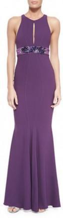 ZAC Zac Posen Sleeveless Mermaid Gown W/ Embellished Waist