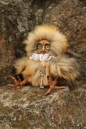 "Art Doll Teddy Doll ""Owl"".  9,05 inches (23 см).Collectable"