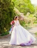 Apple Orchard Wedding With A Lavender Wedding Dress - Weddingomania