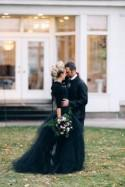 This jewel-toned wedding inspiration is edgy goodness