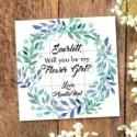 Flower girl proposal, flower girl puzzle, will you be my flower girl, Ask flower girl, Will you be my bridesmaid puzzle, Bridesmaid gift