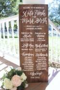Wedding Program Sign, Rustic Wedding Signs, Wedding Party Sign, Wedding Ceremony Program, Wooden Wedding Sign