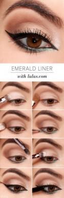 LuLu*s How-To: Emerald Green Eyeliner Tutorial (Lulus.com Fashion Blog)