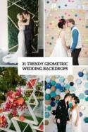 31 Trendy Geometric Wedding Backdrops - Weddingomania