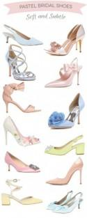 Dreamy Shades: 12 Pretty Pastel Bridal Shoes