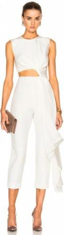 Roksanda Bridal Silk & Bonded Crepe Jumpsuit
