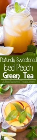 Naturally Sweetened Iced Peach Green Tea