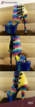 Privileged Multi Color Iridescent Platform Heel Boutique