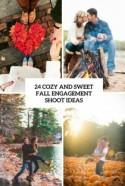 24 Cozy And Sweet Fall Engagement Shoot Ideas - Weddingomania