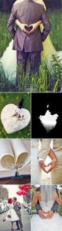27 Most Pinned Heart Wedding Photos