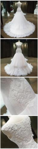 Luxury Mermaid Wedding Dress With C